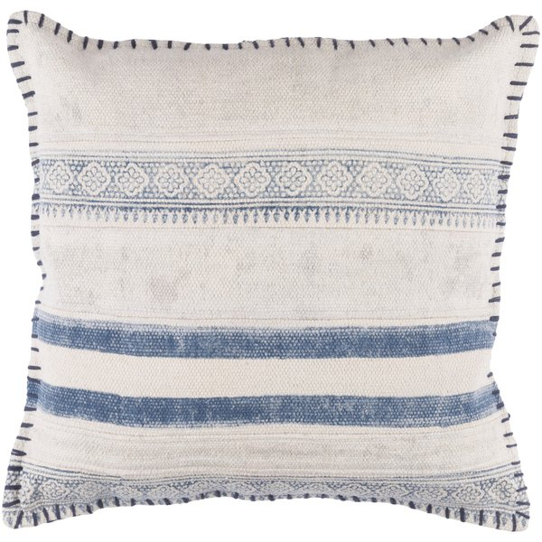 Navy, Cream, Pale Blue (LL-006) Moroccan pillow