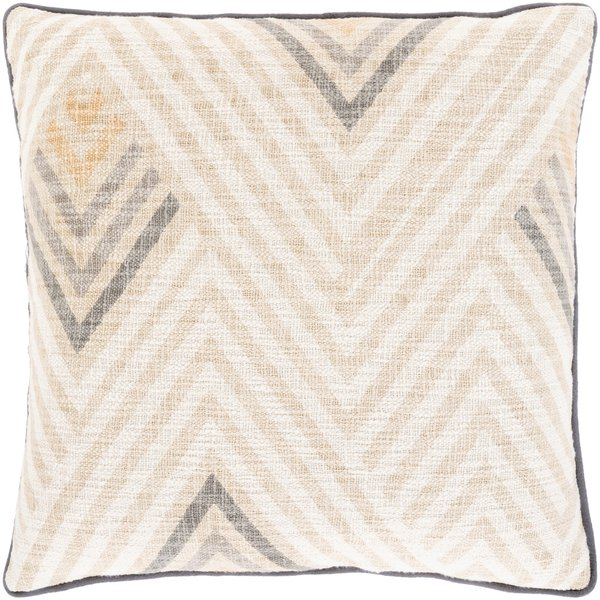 Beige, Camel, Charcoal (MAL-001) Contemporary / Modern pillow