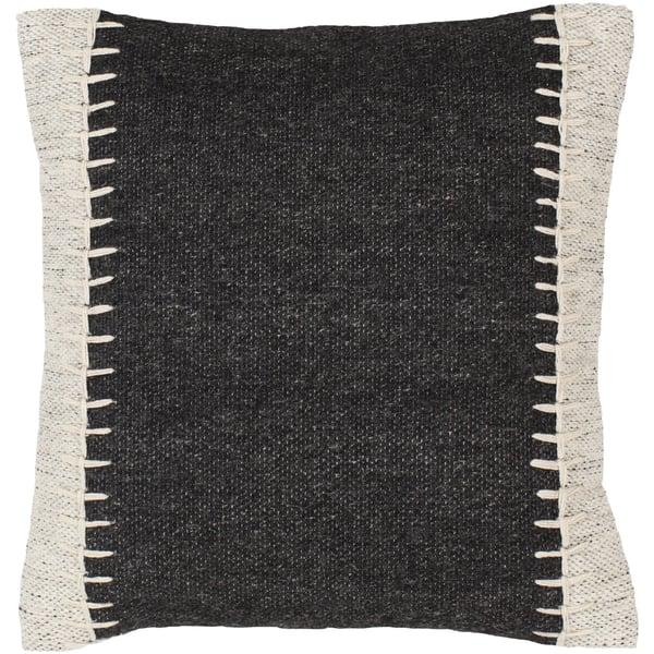Black, Ivory, White (NKO-001) Solid Pillow