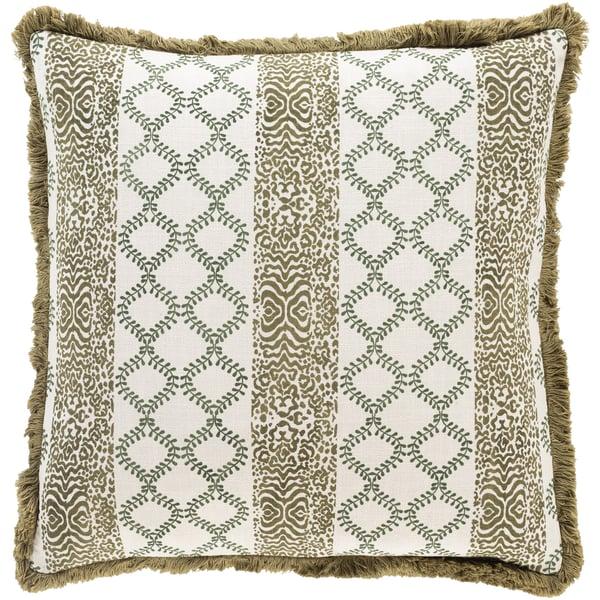 Olive, Dark Green, Beige (TZN-001) Traditional / Oriental pillow