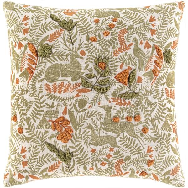 Olive, Terracotta, Ivory (TZN-006) Animals / Animal Skins Pillow