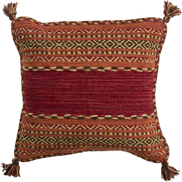 Dark Red, Dark Brown, Burnt Orange (TZ-003) Moroccan pillow