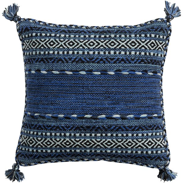Black, Dark Blue, Navy (TZ-004) Moroccan pillow