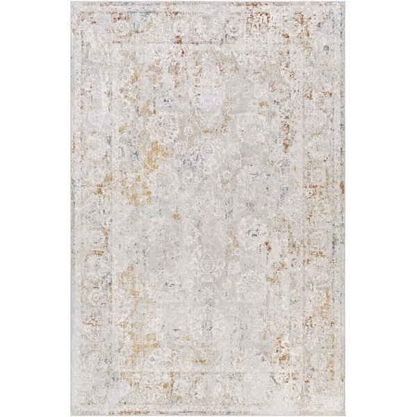 Light Grey, Charcoal, White (CRL-2307) Vintage / Overdyed Area Rug