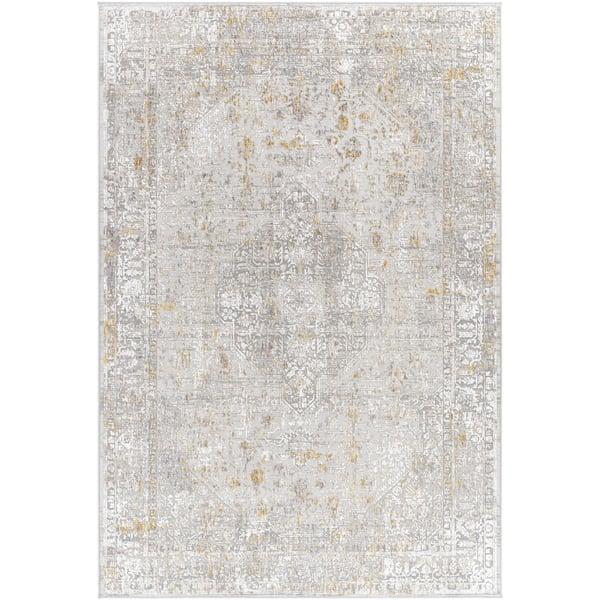 Medium Grey, Taupe (CRL-2318) Vintage / Overdyed Area Rug