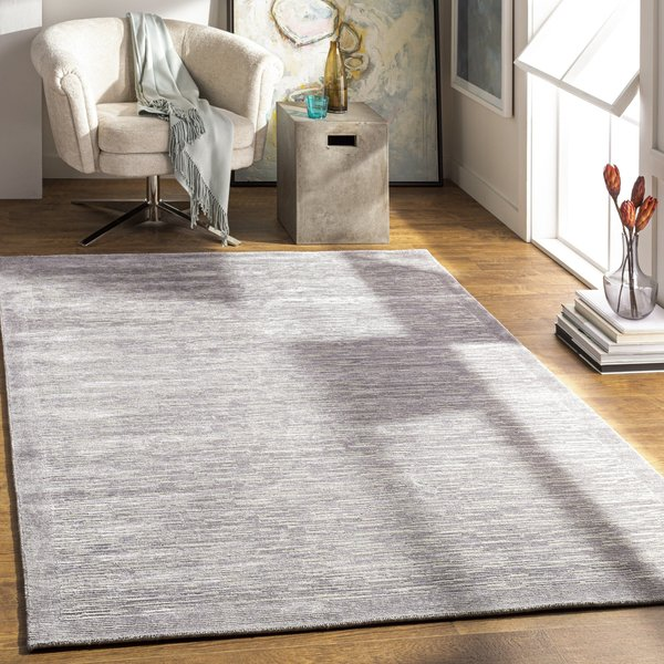 Medium Gray, Silver Gray, Sage (CAP-2306) Contemporary / Modern Area Rug
