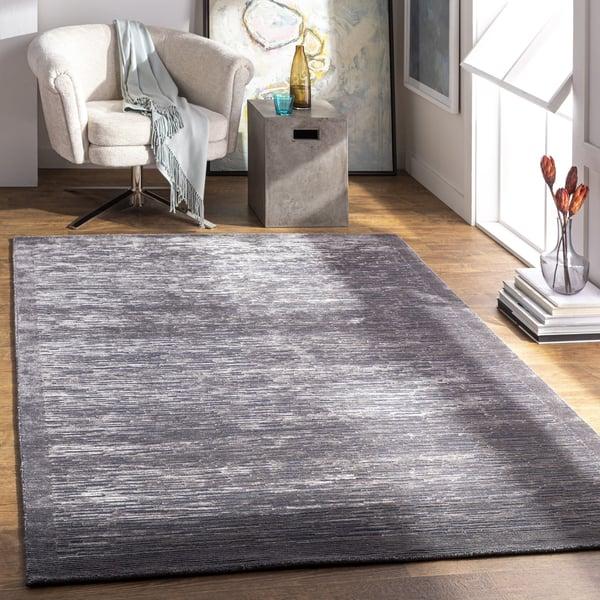 Medium Gray, Charcoal (CAP-2307) Contemporary / Modern Area Rug