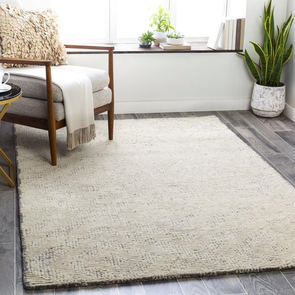 Medium Gray, Khaki, Cream (HCY-2300) Contemporary / Modern Area-Rugs