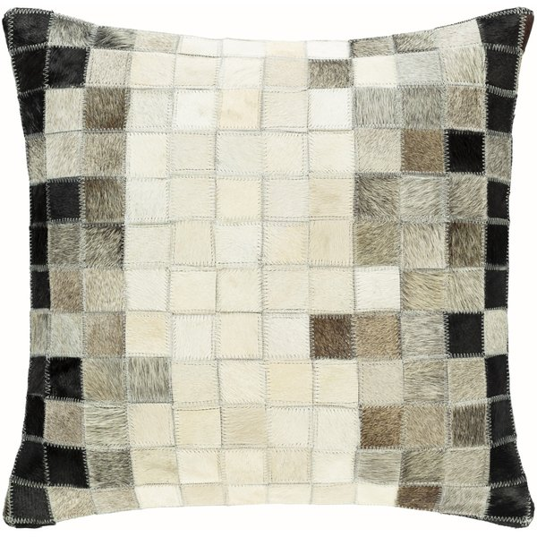 Beige, Black, Taupe (FOT-001) Contemporary / Modern pillow
