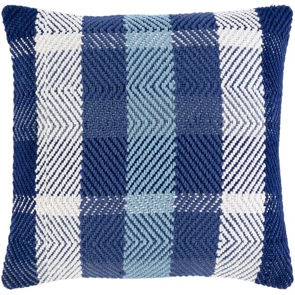 Dark Blue, Denim, White (JBN-001) Contemporary / Modern Pillow
