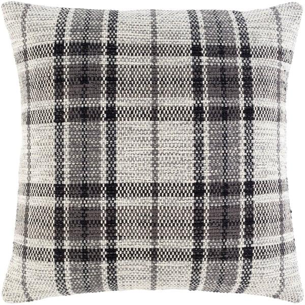 Beige, Ivory, Charcoal (JBN-002) Contemporary / Modern Pillow