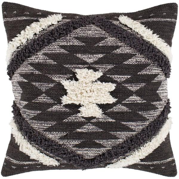 Dark Brown, Black, Cream (LCH-001) Southwestern pillow