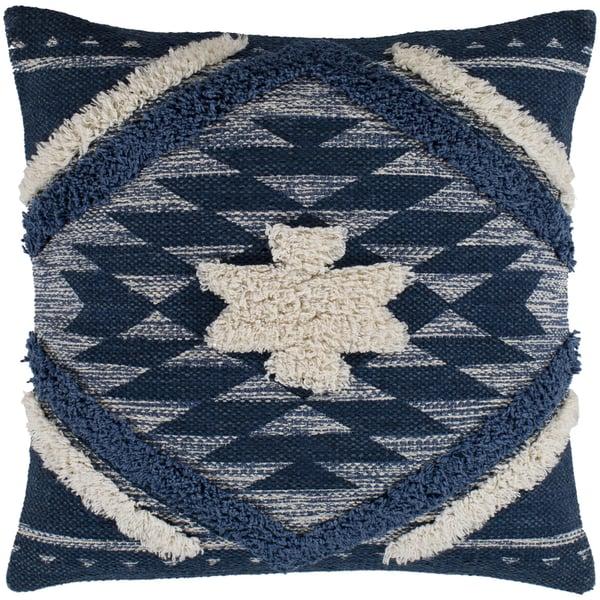 Denim, Navy, Cream (LCH-002) Southwestern Pillow