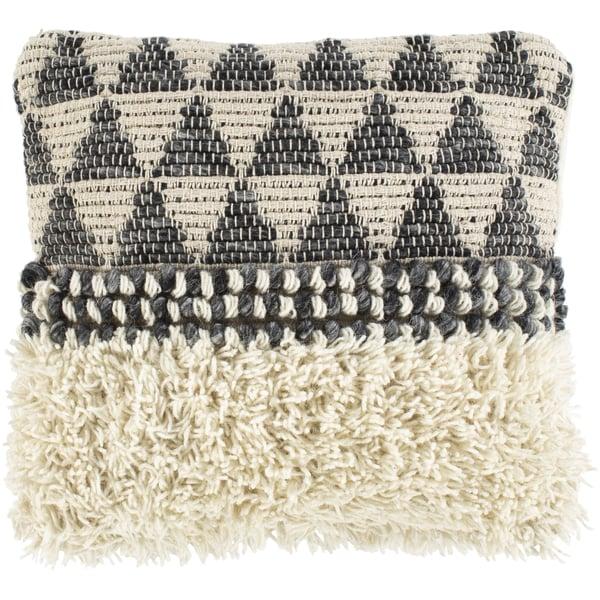 Black, Sea Foam, Ivory (MEA-001) Moroccan Pillow