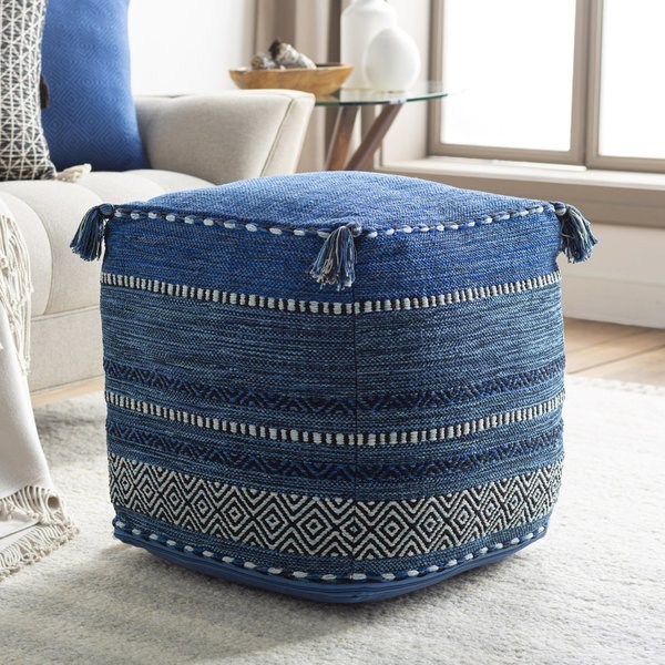 Dark Blue, Navy, Pale Blue (TZPF-001) Bohemian poufs