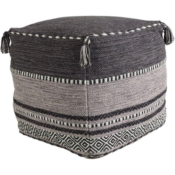 Black, Charcoal, Light Gray (TZPF-003) Bohemian poufs
