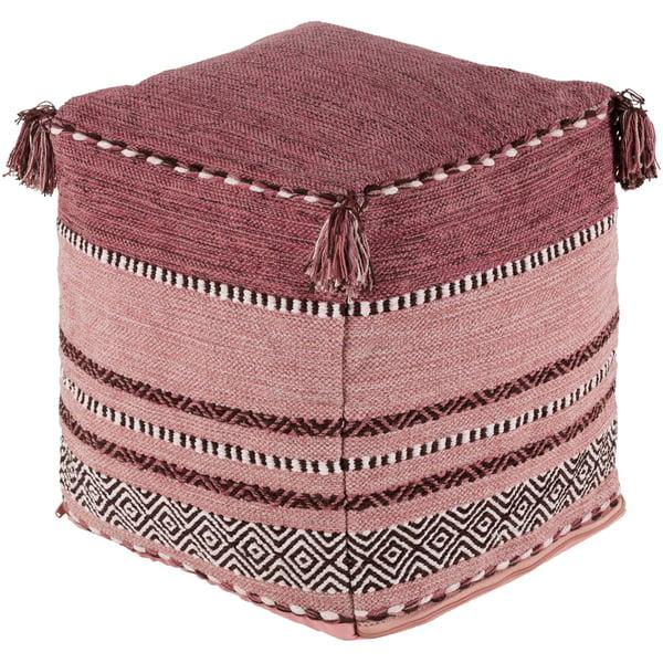 Bright Pink, Blush, White (TZPF-006) Bohemian poufs