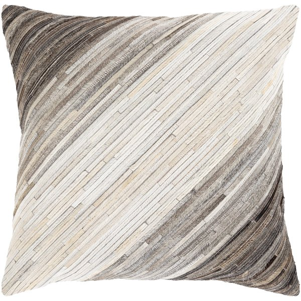 Black, Taupe, Ivory (ZND-004) Contemporary / Modern Pillow