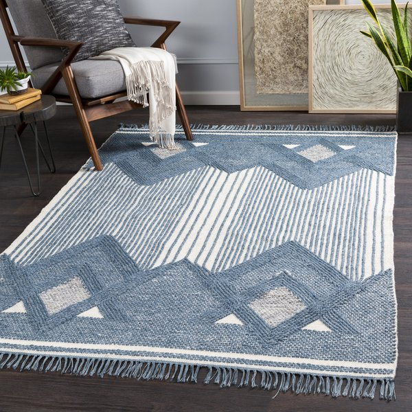 Denim, Khaki, Medium Grey (CHE-1002) Contemporary / Modern Area Rug