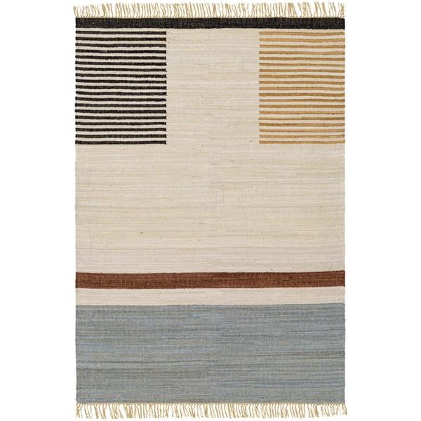 Khaki, Camel, Black (FUM-1002) Contemporary / Modern Area Rug