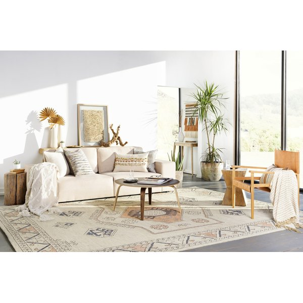 Peach, Camel, Cream (UA1-1001) Bohemian Area Rug
