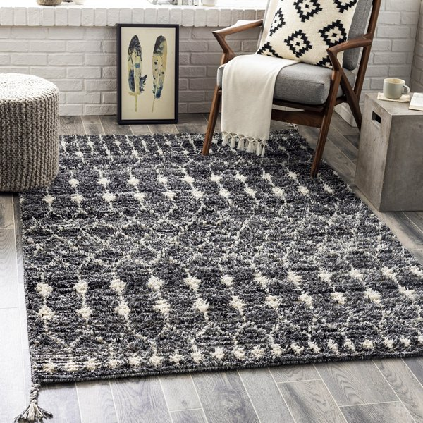 Charcoal, Medium Grey, Taupe (BHC-2301) Moroccan Area Rug