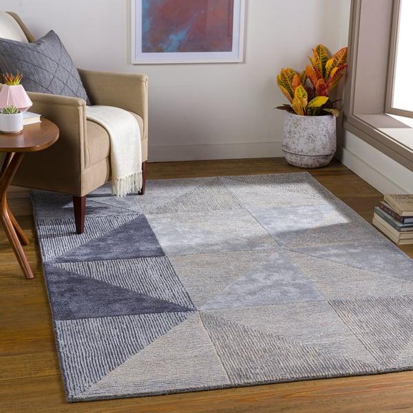 Charcoal, Medium Grey, Light Grey (GLS-2300) Contemporary / Modern Area-Rugs