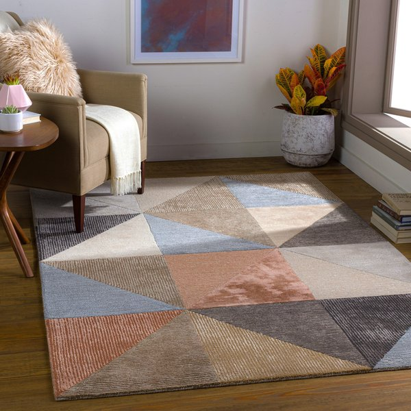 Rose, Denim, Charcoal (GLS-2308) Contemporary / Modern Area-Rugs