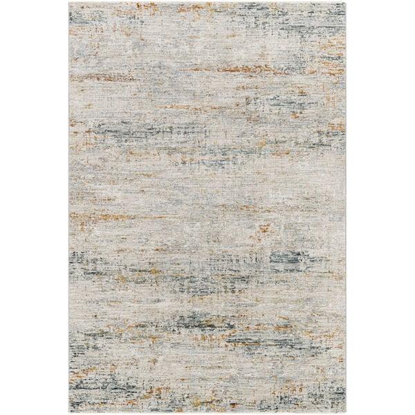 Teal, Sage, Burnt Orange (LAA-2308) Contemporary / Modern Area Rug