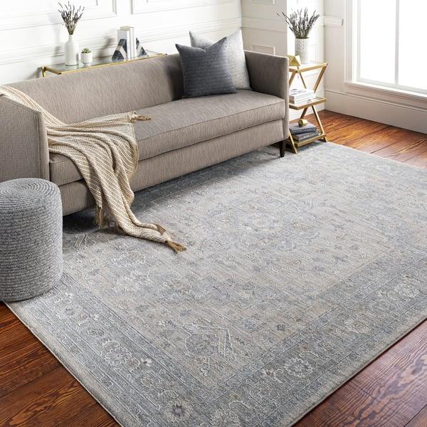 Light Grey, Medium Grey, Charcoal (AVT-2302) Traditional / Oriental Area Rug