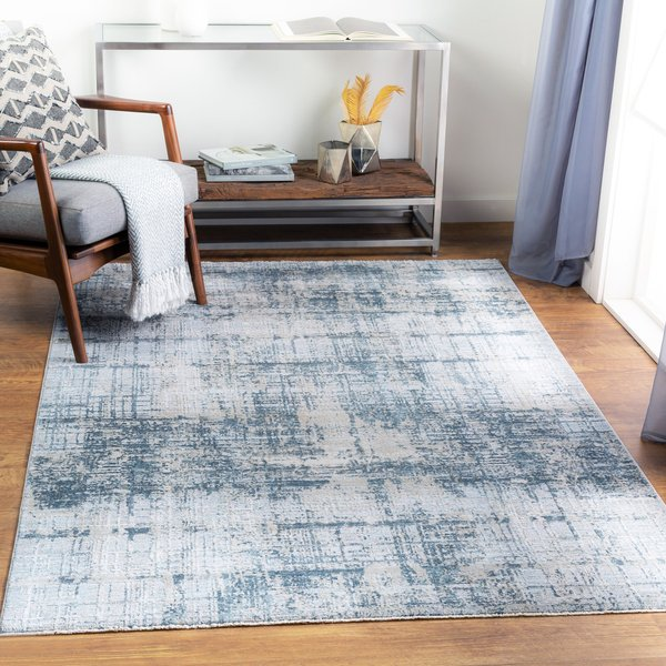 Ice Blue, Sage, Olive (BWK-2300) Abstract Area Rug