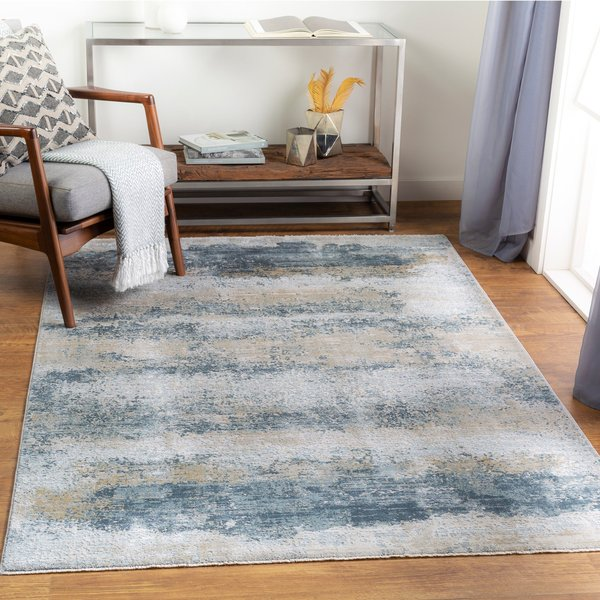 Sage, Light Grey, White (BWK-2304) Abstract Area Rug