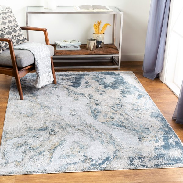 Sage, Light Grey, White (BWK-2309) Abstract Area-Rugs