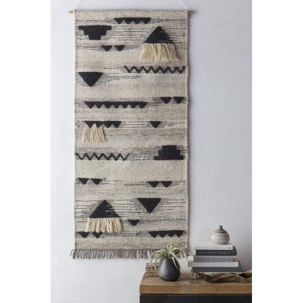Charcoal, Cream, White (ASE-3002) Bohemian Wall-Hangings