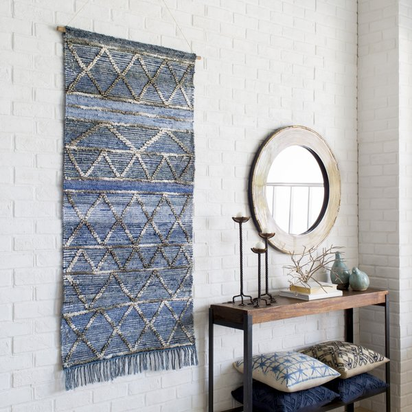 Denim, Pale Blue, Charcoal (CSS-5000) Moroccan Wall-Hangings