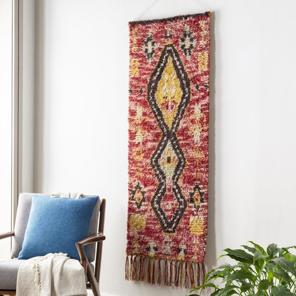 Dark Red, Pale Pink, Ivory (DRH-1000) Moroccan Wall-Hangings