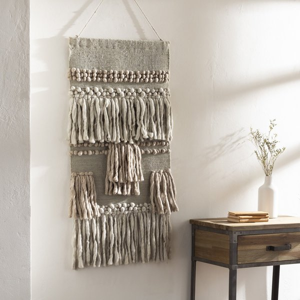 Khaki, Beige, Charcoal (HAL-1000) Bohemian Wall-Hangings
