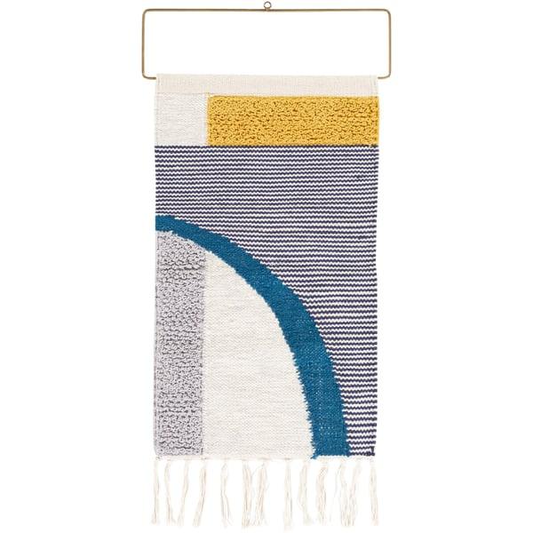 Saffron, Medium Gray, Teal (MTI-1000) Contemporary / Modern Wall-Hangings