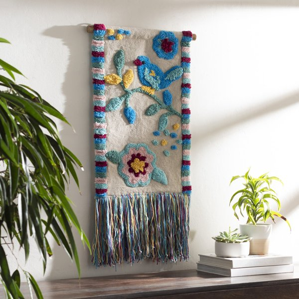 Bright Blue, Sky Blue, Bright Yellow (NST-1000) Floral / Botanical Wall-Hangings