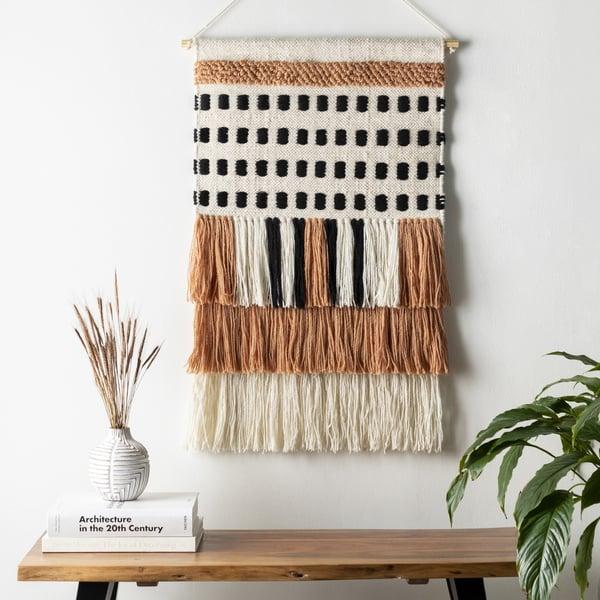 Burnt Orange, Beige, Black (SBE-1000) Bohemian Wall-Hangings