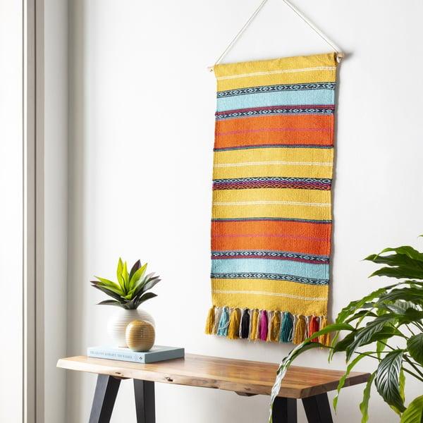 Yellow, Orange, Pink (TOU-1003) Bohemian Wall-Hangings