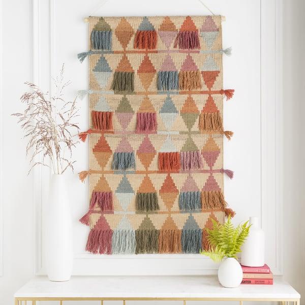 Brick, Khaki, Rose (DIA-1001) Bohemian Wall-Hangings