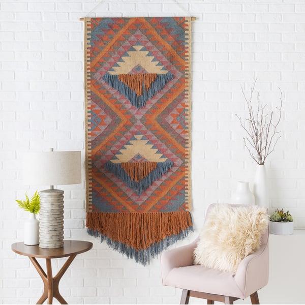 Camel, Teal, Khaki (DIA-1005) Bohemian Wall-Hangings