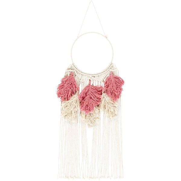 Bright Pink, Cream (LUA-1000) Bohemian Wall-Hangings