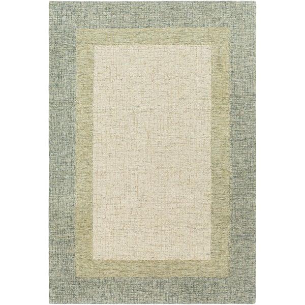 Sage, Olive, Cream (EAE-2302) Contemporary / Modern Area-Rugs