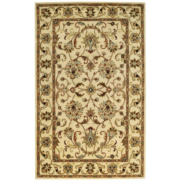 Antique Ivory Traditional / Oriental Area Rug