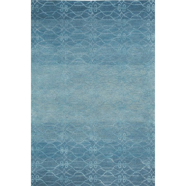 Mediterranean Blue Contemporary / Modern Area Rug