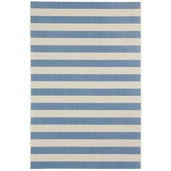 Blueberry Striped Area Rug