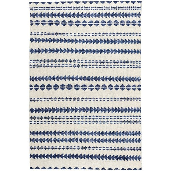 Natural, Blue Moroccan Area Rug