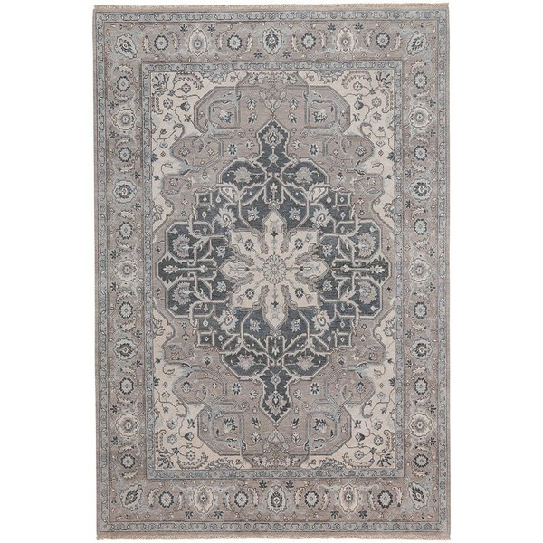 Silver Grey Traditional / Oriental Area Rug